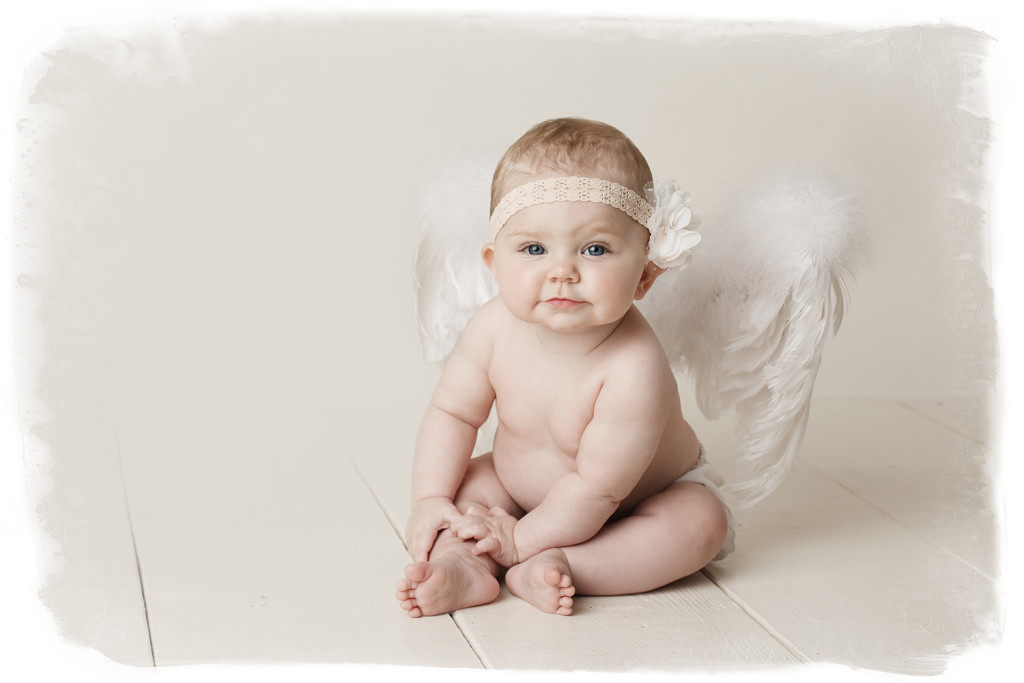 baby in angel wings baby portraits